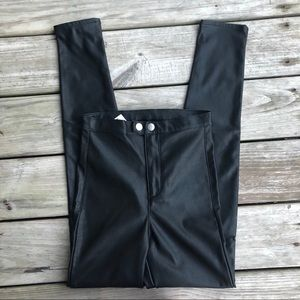 H&M Fake Leather Highwaisted Pants